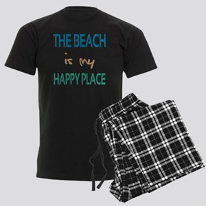 The Beach Is My Happy Place Men's Dark Pajamas
