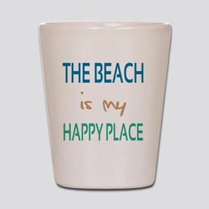 The Beach Is My Happy Place Shot Glass