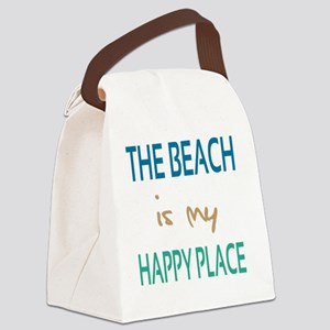 The Beach Is My Happy Place Canvas Lunch Bag