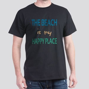The Beach Is My Happy Place Dark T-Shirt
