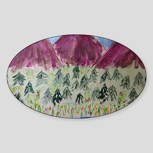 Maroon Bells Sticker (Oval)