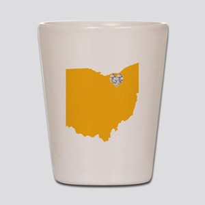 Ohio Cleveland Heart Shot Glass