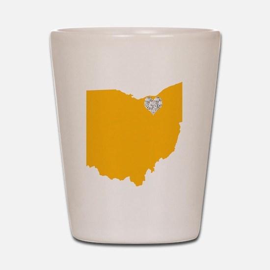 Ohio Cleveland Heart Shot Glass