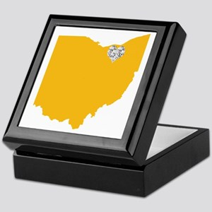 Ohio Cleveland Heart Keepsake Box