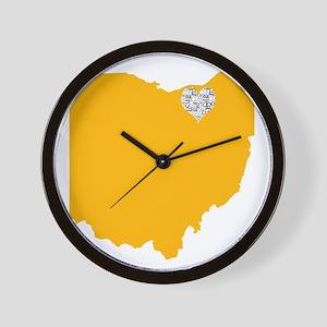Ohio Cleveland Heart Wall Clock