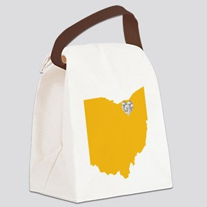 Ohio Cleveland Heart Canvas Lunch Bag