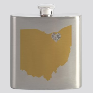 Ohio Cleveland Heart Flask