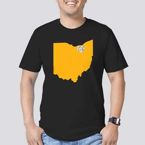 Ohio Cleveland Heart Men's Fitted T-Shirt (dark)