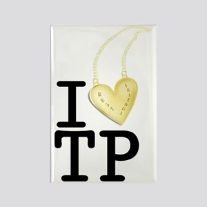 I love Twin Peaks (Gold Heart Nec Rectangle Magnet