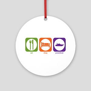 Eat Sleep Powerboat Ornament (Round)