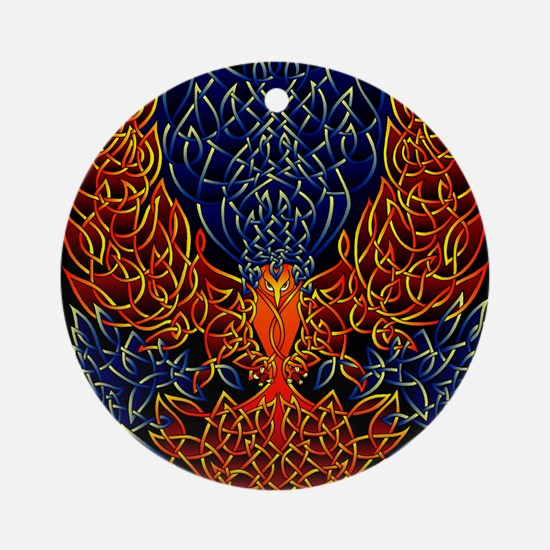 Celtic Phoenix Round Ornament