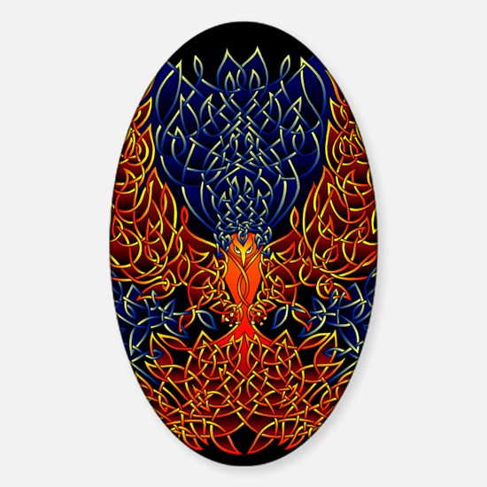 Celtic Phoenix Sticker (Oval)