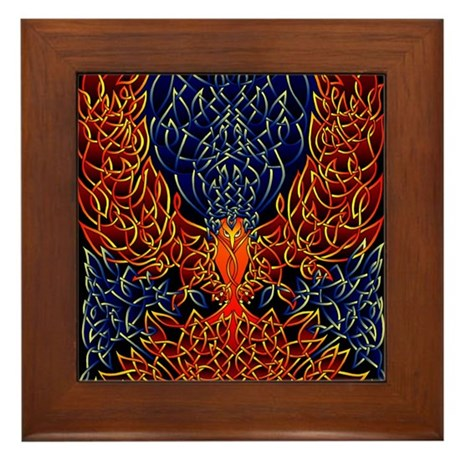Celtic Phoenix Framed Tile
