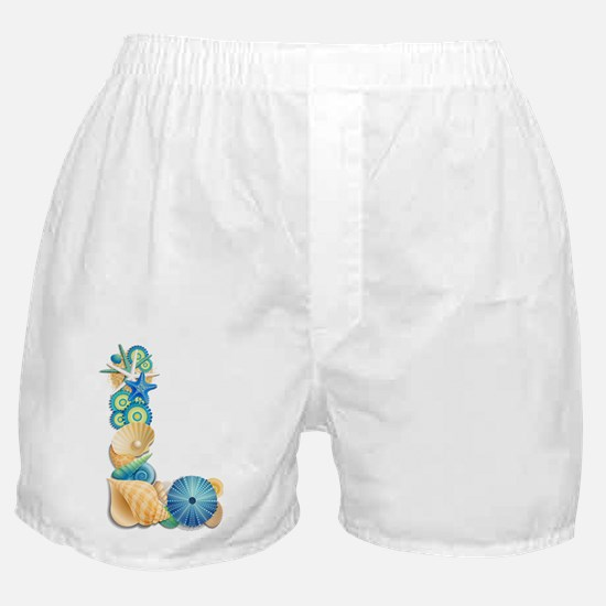 Beach Theme Initial L Boxer Shorts