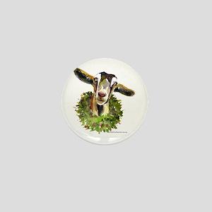 Christmas Goat Mini Button