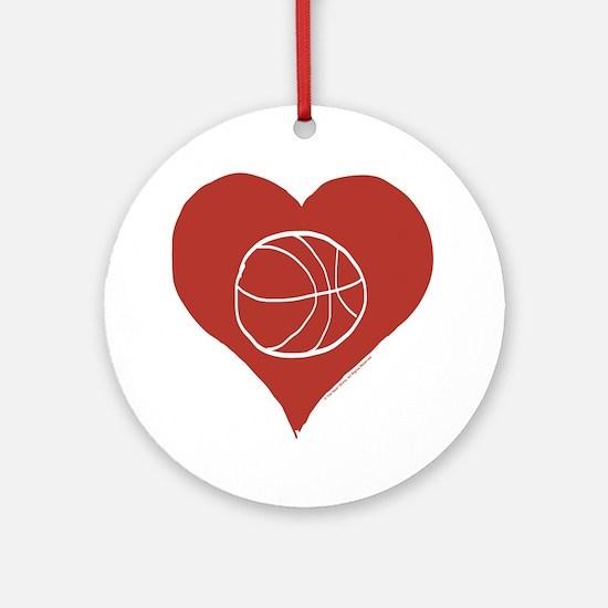 Love - Basketball Round Ornament