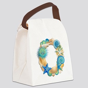 Beach Theme Initial O Canvas Lunch Bag