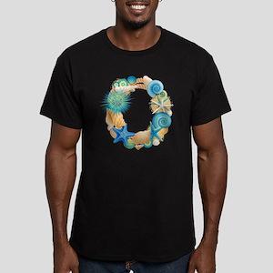 Beach Theme Initial O Men's Fitted T-Shirt (dark)