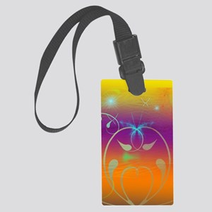 Cosmic Butterflies and Swirls fo Large Luggage Tag