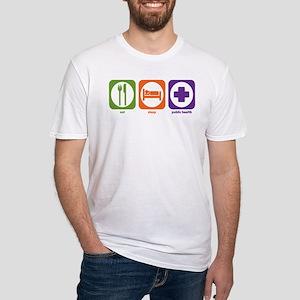 Eat Sleep Public Health Fitted T-Shirt