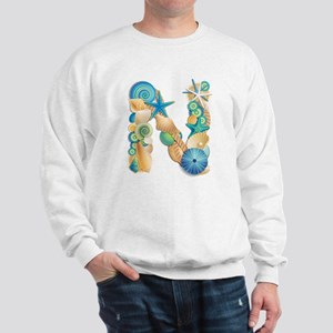 Beach Theme Initial N Sweatshirt