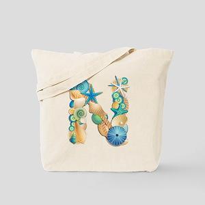 Beach Theme Initial N Tote Bag