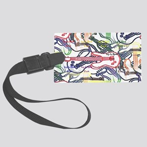 clutch side B guitars galore Large Luggage Tag