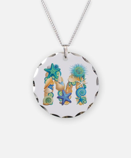 Beach Theme Initial M Necklace