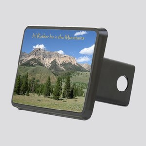 Rather be in the Mountains Rectangular Hitch Cover