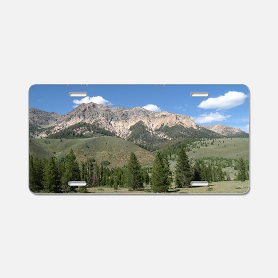 Rather be in the Mountains Aluminum License Plate