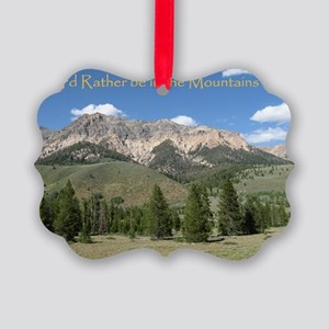 Rather be in the Mountains Picture Ornament