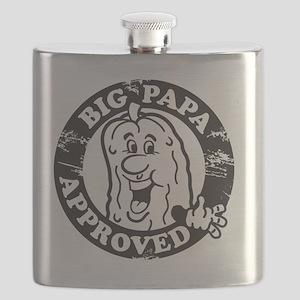 Big Papa Approved Stamp Black Flask