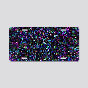 Mosaic Glitter 1 Aluminum License Plate