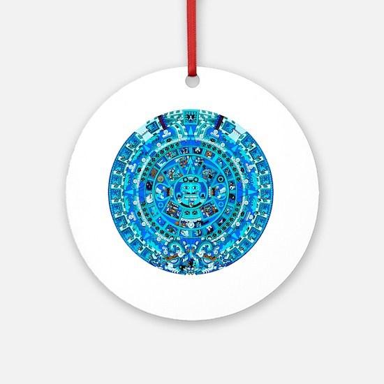 Ancient Mayan Calendar Round Ornament