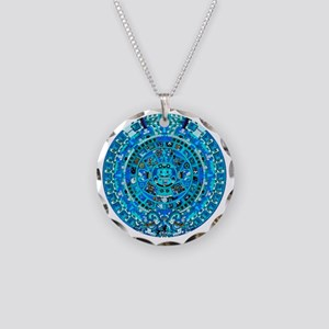 Ancient Mayan Calendar Necklace Circle Charm
