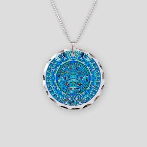 Ancient Mayan Calendar Necklace Circle Charm