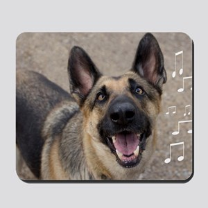 German Shepherd Birthday Card Mousepad