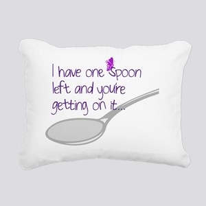 One Spoon Left Rectangular Canvas Pillow