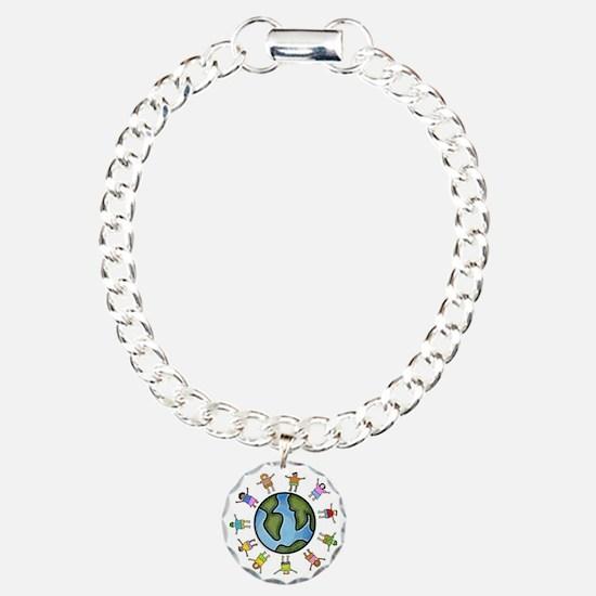 peace love multicultural Bracelet