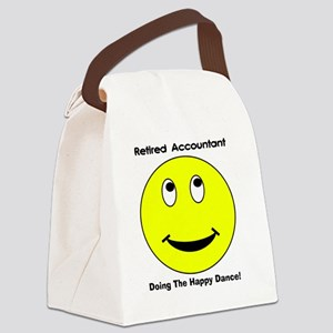 Retired Accountant happy dance Canvas Lunch Bag