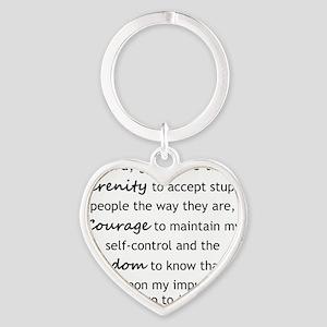 Sarcastic Serenity Prayer 02 Heart Keychain