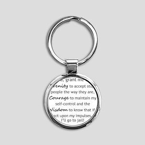 Sarcastic Serenity Prayer 02 Round Keychain