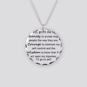 Sarcastic Serenity Prayer 02 Necklace Circle Charm