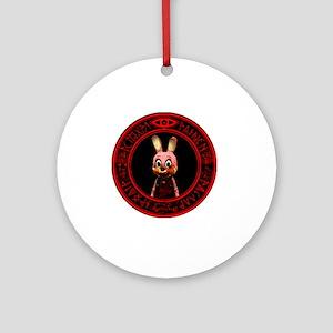 Bad Bunny Round Ornament