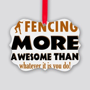 Fencing designs Picture Ornament