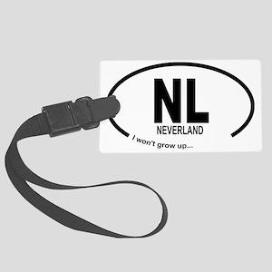 Car Oval Neverland Large Luggage Tag