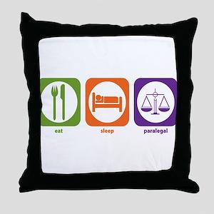 Eat Sleep Paralegal Throw Pillow