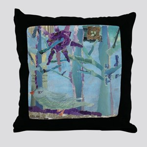 Blue bird, blue bird Throw Pillow