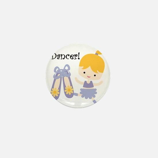 Blond Girl Dancer Mini Button