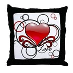Love Swirls Throw Pillow